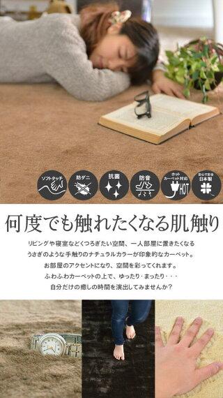 東洋紡フィーノを使用。極上の肌触りが実感できる6帖サイズカーペット