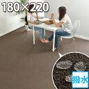 東リ ダイニングラグ(4人掛け) 180×220 長方形 汚れにくいラグマット(撥水・防汚) 防炎 防ダニ 抗菌 多機能15色カラーカーペット 高品質 オシャレインテリア シンプル 無地 絨毯 日本製