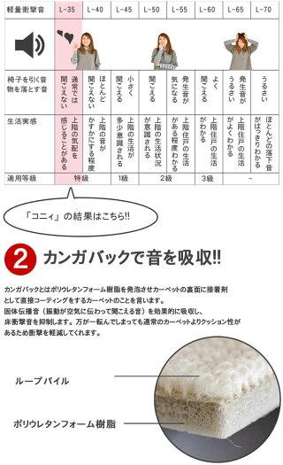 防音遮音カーペット厚手防炎カーペットアイボリー・ベージュ・ローズ3色ご用意!