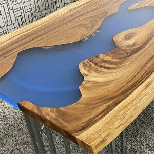【クーポン配布中】【開梱設置無料】レジンテーブル リバーテーブル 一枚板 幅200cm エポキシ 樹脂テーブル 天板厚み 44mm 無垢一枚板 ダイニングテーブル 一枚板テーブル 天然木 (脚はサービ