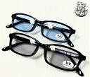 スクエア型 スモークレンズサングラス ブルーレンズ ブラックフレーム 細めのフレーム  紫外線カットレンズ 男女兼用 2061 (ブルー…