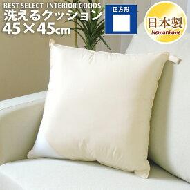 眠り姫 洗える クッション ヌード アイボリー45×45cm インテリア 雑貨日本製 単品