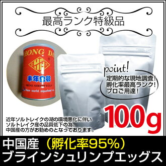 (* Shipping) ♦ top rank guarantee ♦ Chinese producing larvae (Artemia) hatching rate 95 %100g (Hongda subdivision type) (goldfish hut-Fukuoka)