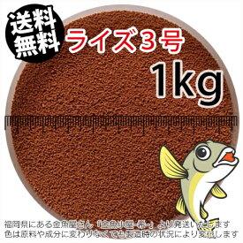 日清丸紅飼料ライズ3号(粒径0.36〜0.65mm)1kg小分け品(メール便/金魚小屋-希-福岡/3日)