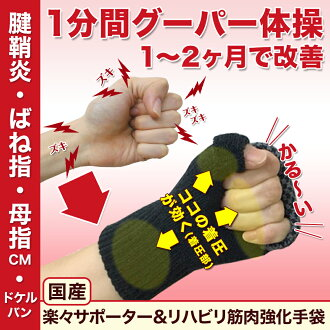 It is wrist palm inflammation of a tendon sheath spring finger mouse inflammation of a tendon sheath finger サポータードケルバン mother and the child CM arthropathy cerebral infarction stroke てぶらくさん the root supporter (improved by a supporter effect for the rehabi