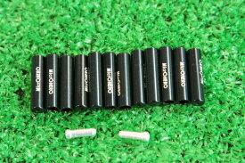 【即納】マイクロヒーロー  MicrOHERO 軽量 アルミ シフトアウターエンドキャップ 12個セット ブラック ワイヤーエンドキャップ2個付