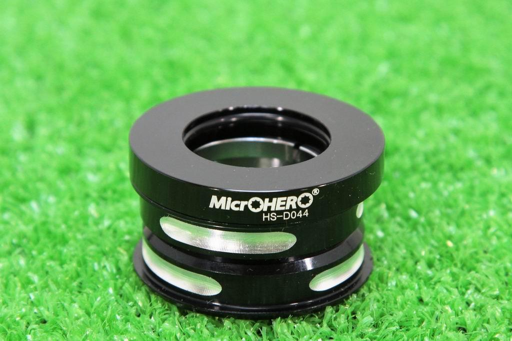 【即納】MicrOHERO ヘッドセット HS-DO44 ブラック 上下44mm シールドベアリング ダホン★dahonなど小径車用 ヘッドパーツ