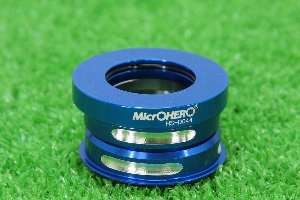 【即納】MicrOHERO ヘッドセット HS-DO44 ブルー 上下44mm シールドベアリング ダホン★dahonなど小径車用 ヘッドパーツ