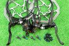 【即納】【軽量】シマノ(SHIMANO)高性能油圧ディスクブレーキBL-MT200BR-MT200ローター無前後セットブラック★自転車パーツ