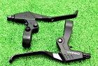 【即納】テクトロ(TEKTRO)軽量アルミ合金V-ブレーキディスクブレーキ用ブレーキレバーTX-3743フィンガー