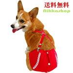 犬用赤ボーダーサニタリーパンツ(生理パンツ)