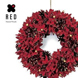 [クーポンで10%割引! 2020/09/16 14:00-2020/09/21 09:59クリスマスツリー クリスマス リース 北欧 おしゃれ ボール 35cm 玄関 RED