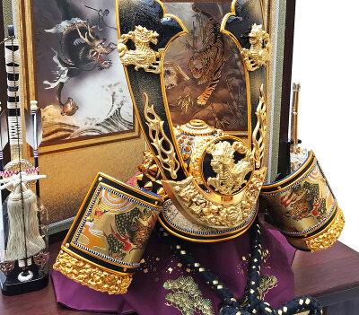 五月人形兜コンパクト飾り収納江戸黄金収納兜