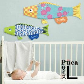 【只今ポイント5倍】こいのぼり 鯉のぼり室内飾り 室内鯉 おしゃれ かわいい コンパクト 単品 Puca プーカのこいのぼり 名前旗付【L】