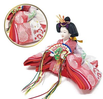 雛人形ひな人形ピンクゴールドケースコンパクト雛ケース飾り親王飾り名前旗付【2019年度新作】