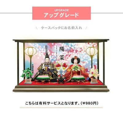 雛人形ひな人形数量限定!コンパクトピンク親王ケース飾り2017