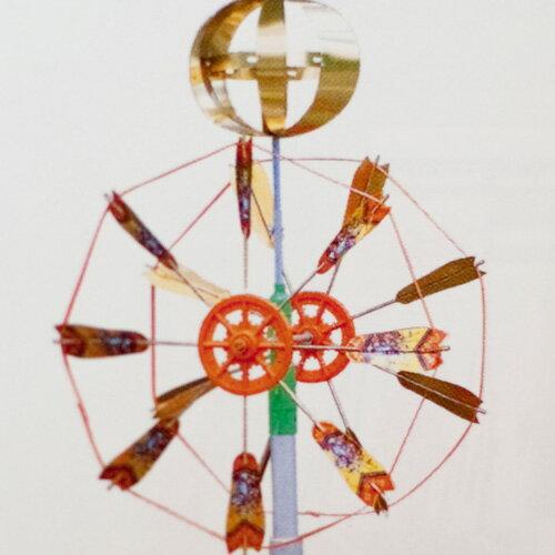 こいのぼり 矢車セット小 3−4m用 (矢羽根直径50cm)