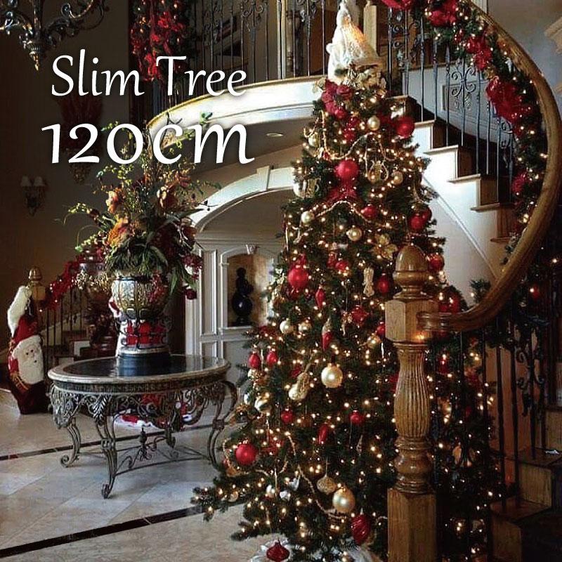 【エントリーポイント最低10倍】クリスマスツリー スリムツリー120cm おしゃれ ヌードツリー