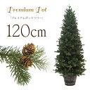 クリスマスツリー 北欧 おしゃれ プレミアムウッドベースツリー120cm ポットツリー ヌードツリー【hk】【pot】