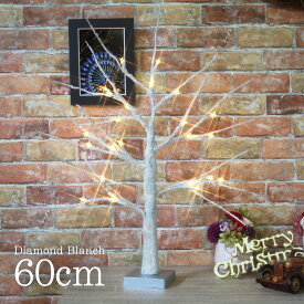 【数量限定特価】クリスマスツリー 北欧 おしゃれ ダイヤモンドブランチツリー60cm 【hk】