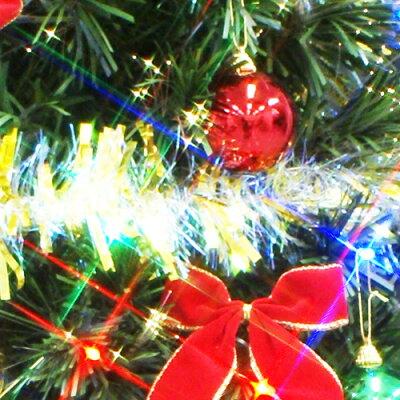 クリスマスツリーファイバーツリー180cmセット11(マルチLED48球付き)