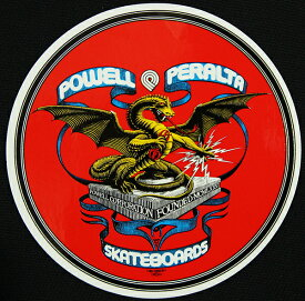 Powell Peralta Skateboards ステッカー シール パウエル・ペラルタ Banner Dragon Sticker スケボー SKATE SK8 スケートボード HARD CORE PUNK ハードコア パンク HIPHOP ヒップホップ SURF サーフ レゲエ reggae スノボー スノーボード Snowboard NINJA X