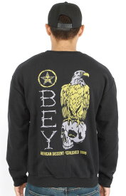 OBEY (オベイ) スウェット トレーナー American Dissent Crewneck Black