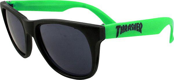 Thrasher Magazine サングラス ビアゴーグル スラッシャー Logo Sunglasses Green(US企画)スケボー SKATE SK8 スケートボード HARD CORE PUNK ハードコア パンク HIPHOP ヒップホップ SURF サーフ スノボー スノーボード Snowboard NINJA X