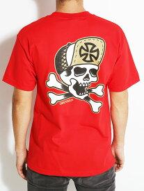 INDEPENDENT Tシャツ / インディペンデント / Dressen Skull and Bones T-Shirt / Mサイズ / Red / スケボー SKATE SK8 スケートボード HIPHOP ヒップホップ SURF サーフ スノボー スノーボード Snowboard NINJA X