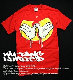 WU-TANG LIMITED Tシャツ Wu-Tang Clan(ウータンクラン)Dripping Hands T-Shirt Red スケボー SKATE SK8 スケートボード HARD CORE PUNK ハードコア パンク HIPHOP ヒップホップ SURF サーフ レゲエ reggae スノボー スノーボード Snowboard NINJA X