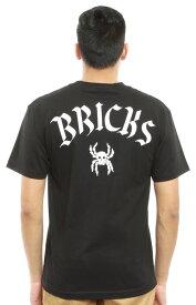 Acapulco Gold(アカプルコゴールド)Tシャツ Bricks Spider Skull T-Shirt Black スケボー SKATE SK8 スケートボード HARD CORE PUNK ハードコア パンク HIPHOP ヒップホップ SURF サーフ レゲエ reggae スノボー スノーボード Snowboard NINJA X