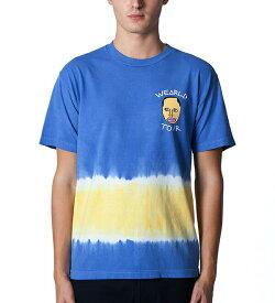 OFWGKTA スケボー Tシャツ HIPHOP オッドフューチャー Odd Future Wearld Tour T-Shirt Blue×Yellow スケボー SKATE SK8 スケートボード HARD CORE PUNK ハードコア パンク HIPHOP ヒップホップ SURF サーフ スノボー スノーボード Snowboard NINJA X