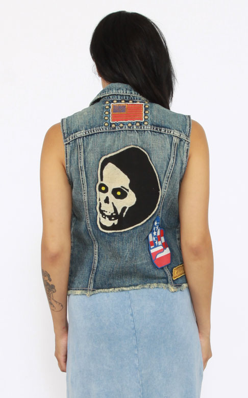 KILL CITY デニム ベスト キルシティー Custom Built Trucker Vest