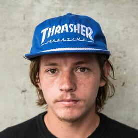 Thrasher Magazine(US企画)スナップバック 帽子 キャップ スラッシャー Rope Snap-Back Hat Blue スケボー SKATE SK8 スケートボード HARD CORE PUNK ハードコア パンク HIPHOP ヒップホップ SURF サーフ スノボー スノーボード Snowboard NINJA X