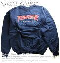 Thrasher Magazine(US企画)トレーナー スウェット スラッシャー Outlined Crew Neck Sweatshirt Navy Blue スケボー S…