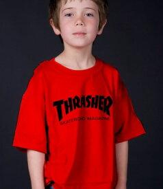 Thrasher Magazine(US企画)スラッシャー 子供 キッズ Tシャツ ユース Youth Skate Mag T-shirt kids Red スケボー SKATE SK8 スケートボード HARD CORE PUNK ハードコア パンク HIPHOP ヒップホップ SURF サーフ スノボー スノーボード Snowboard NINJA X