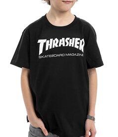 Thrasher Magazine(US企画)スラッシャー 子供 キッズ Tシャツ ユース Youth Skate Mag T-shirt kids Black スケボー SKATE SK8 スケートボード HARD CORE PUNK ハードコア パンク HIPHOP ヒップホップ SURF サーフ スノボー スノーボード Snowboard NINJA X