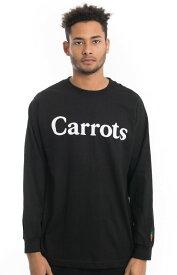 Carrots ロンT ロングTシャツ 長袖 キャロッツ Woodlmark L/S Shirt Black スケボー SKATE SK8 スケートボード HARD CORE PUNK ハードコア パンク HIPHOP ヒップホップ SURF サーフ レゲエ reggae スノボー スノーボード Snowboard NINJA X