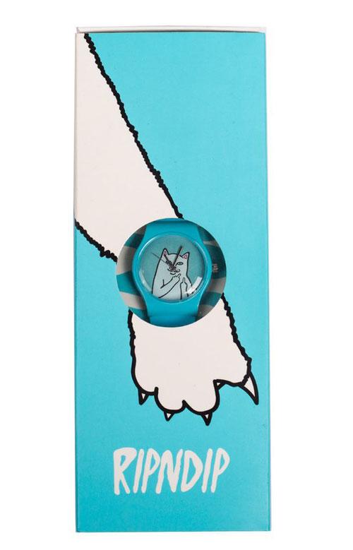 RIPNDIP 腕時計 リップンディップ Lord Nermal Watch Blue スケボー SKATE SK8 スケートボード HARD CORE PUNK ハードコア パンク HIPHOP ヒップホップ SURF サーフ レゲエ reggae スノボー スノーボード Snowboard NINJA X