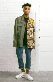10 Deep ミリタリージャケット 軍物 テンディープ Vintage Split Button-Up Shirt Multi Olive×Camo/迷彩 スケボー SKATE SK8 スケートボード HARD CORE PUNK ハードコア パンク HIPHOP ヒップホップ SURF サーフ スノボー スノーボード Snowboard NINJA X