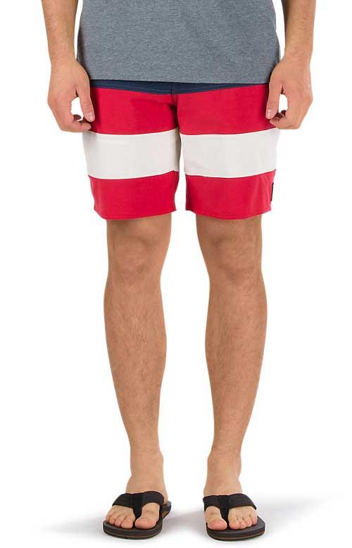 VANS 水着 ボードショーツ バンズ Era Panel Boardshort Dress Blue/Racing Red Multi shorts ボーダー スケボー SKATE SK8 スケートボード HARD CORE PUNK ハードコア パンク HIPHOP ヒップホップ SURF サーフ レゲエ reggae スノボー スノーボード Snowboard NINJA X