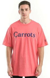 Carrots Tシャツ 半袖 キャロッツ Woodmark T-Shirt Coral/Navy Anwar Carrots スケボー SKATE SK8 スケートボード HARD CORE PUNK ハードコア パンク HIPHOP ヒップホップ SURF サーフ レゲエ reggae スノボー スノーボード Snowboard NINJA X