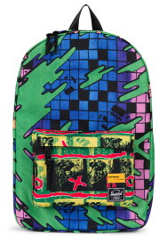 Herschel x Hoffman リュック バックパック カバン ハーシェル/ホフマン コラボ Winlaw Backpack Check/Surf Green Multi 総柄 スケボー SKATE SK8 スケートボード HARD CORE PUNK ハードコア パンク HIPHOP ヒップホップ SURF サーフ レゲエ reggae スノボー スノーボード