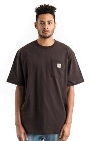CARHARTT(カーハート)US企画 Tシャツ 半袖 Workwear Pocket T-Shirt Dark Brown ポケット付き 無地 スケボー SKATE SK8 スケートボード HARD CORE PUNK ハードコア パンク HIPHOP ヒップホップ SURF サーフ レゲエ reggae スノボー スノーボード Snowboard NINJA X
