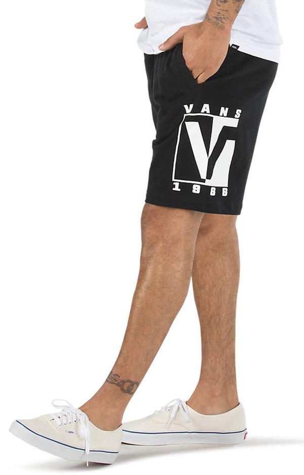 VANS(バンズ)スウェットショーツ ショートパンツ Blunt Tones Fleece Shorts Black スケボー SKATE SK8 スケートボード HARD CORE PUNK ハードコア パンク HIPHOP ヒップホップ SURF サーフ レゲエ reggae スノボー スノーボード Snowboard NINJA X