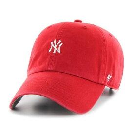 '47 Brand(フォーティセブン)ベースボールキャップ 帽子 キャップ ダッドハット ワンポイント Yankees Base Runner '47 CLEAN UP Red MLB ヤンキース メジャーリーグ