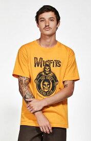 OBEY x Misfitsf(オベイ×ミスフィッツ)Tシャツ Decades T-Shirt Gold スケボー SKATE SK8 スケートボード HARD CORE PUNK ハードコア パンク HIPHOP ヒップホップ SURF サーフ レゲエ reggae スノボー