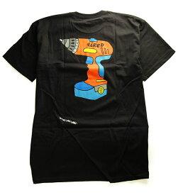 Tired(タイレッド)Tシャツ Power Tool Tee Black Parra(パーラ)スケボー SKATE SK8 スケートボード HARD CORE PUNK ハードコア パンク HIPHOP ヒップホップ SURF サーフ レゲエ reggae スノボー スノーボード Snowboard NINJA X