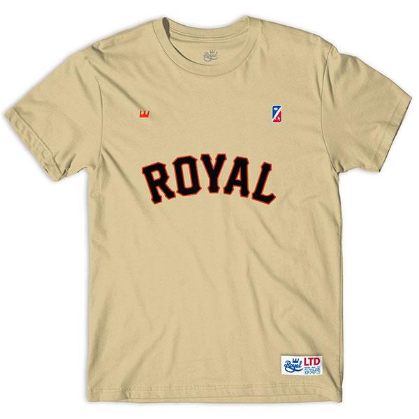 ROYAL TRUCKS(ロイヤルトラックス)Tシャツ Giants Tee Sand MLB San Francisco Giants(サンフランシスコ・ジャイアンツ)スケボー SKATE SK8 スケートボード HARD CORE PUNK ハードコア パンク HIPHOP ヒップホップ SURF サーフ レゲエ reggae スノボー スノーボード