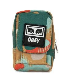 OBEY(オベイ)小物ポーチ ミニバッグ Drop Out Utility Bag Drip Camo/迷彩 スケボー SKATE SK8 スケートボード HARD CORE PUNK ハードコア パンク HIPHOP ヒップホップ SURF サーフ レゲエ reggae スノボー スノーボード Snowboard NINJA X